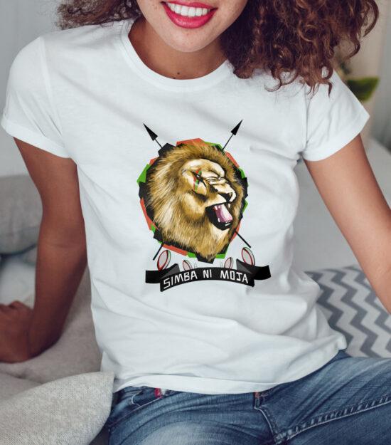 Simba-ni-moja-Ladies-White