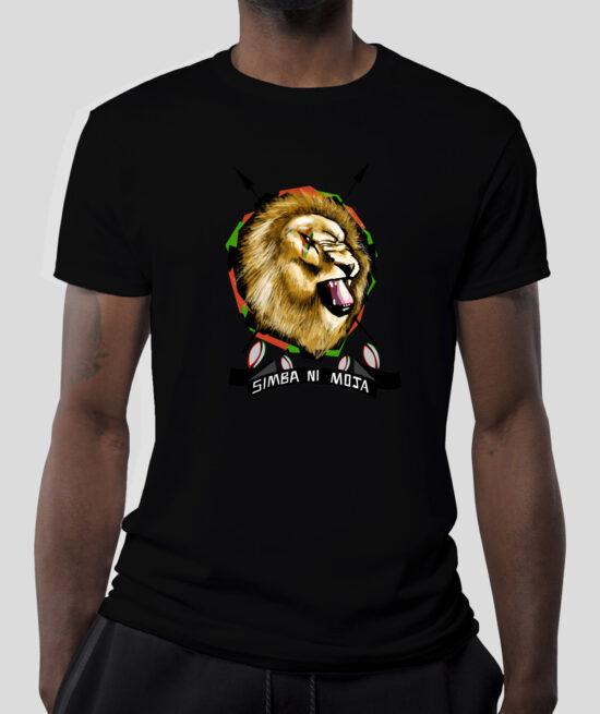 Simba-ni-moja-Men-Black